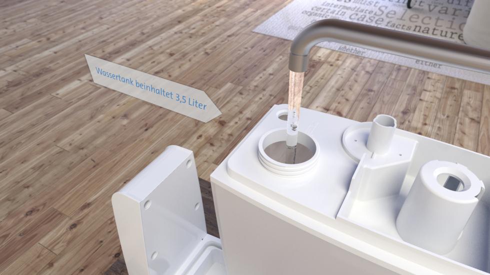 Der Ultraschall Luftbefeuchter, Clean Air Optima CA-602, mit kalter Zerstäubung, Ionisator für die Luftreinigung und Aromazerstäubung.
