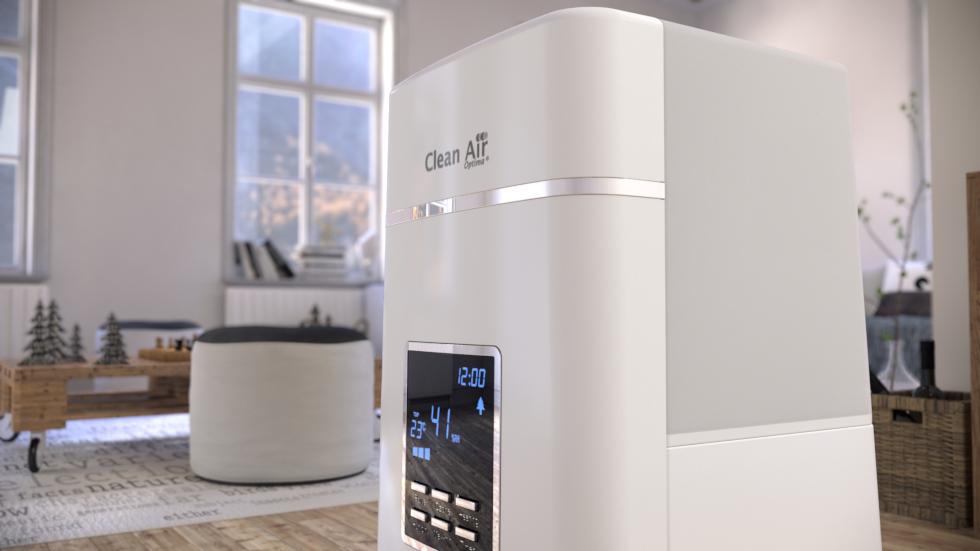 Reinigt die Luft durch integrierten Ionisator.