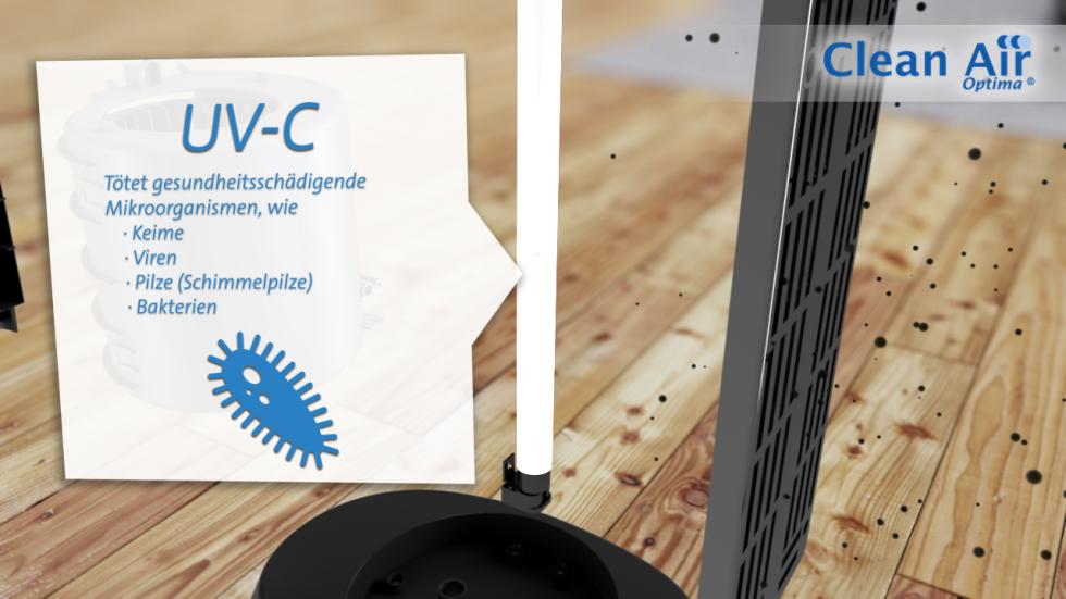 Verbessert die Luftqualität in Innenräumen bis 60m² / 150m³.